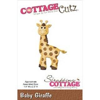 """Baby Giraffe 1.4""""X2.3"""" - CottageCutz Die"""