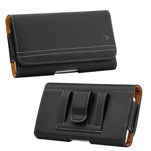 Secure Belt Clip Case Holster Card Slot for 6.5 inch Mobile Phones