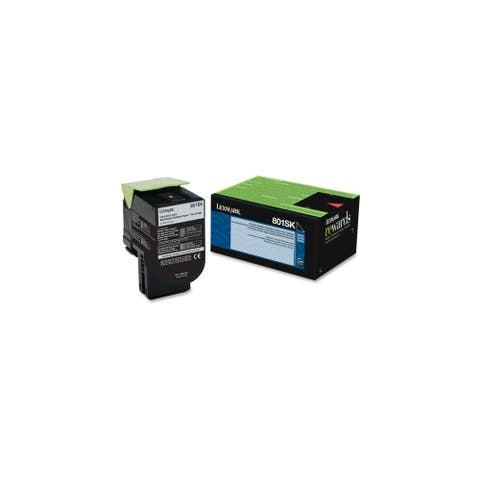 Lexmark 80C1SK0 Lexmark 801SK Black Standard Yield Return Program Toner Cartridge - Black - Laser - 2500 Page - 1 Each - OEM