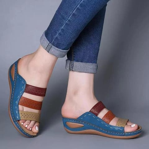 Platform Flip-Flops Women's Casual Sandals