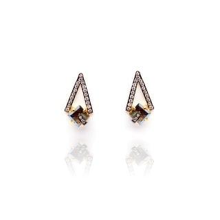 Pyramid Earrings in Labradorite