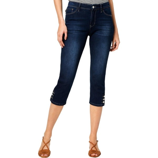 Lee Womens Jayla Capri Jeans Denim Mid-Rise