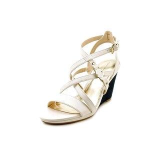 Tommy Hilfiger Elizah Women Open Toe Synthetic White Wedge Heel