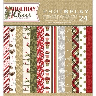 "Photo Play Double-Sided Paper Pad 6""X6"" 24/Pkg-Holiday Cheer, 8 Designs/3 Each"