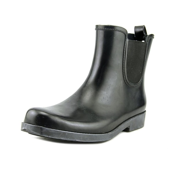 Coach Tyler Shiny Rubber Women Black Snow Boots