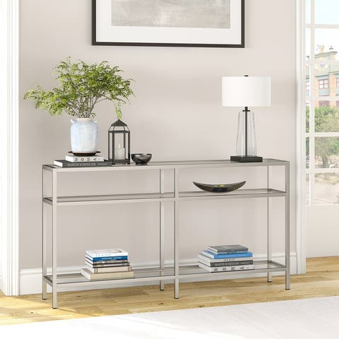 Silver Orchid Galeen Blackened Bronze Console Table