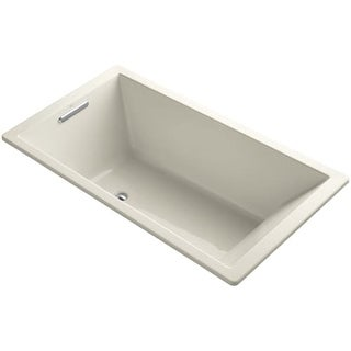 "Kohler K-1136 Underscore Collection 66"" Drop In Acrylic Bath Tub With Molded Lumbar Support and Reversible Drain"
