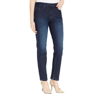 NYDJ Womens Ankle Jeans Original Slimming Fit Mid-Rise