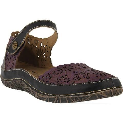 L'Artiste by Spring Step Women's Kysandra Mary Jane Purple Multi Leather