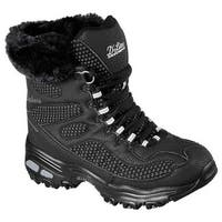 Skechers Women's D'Lites Snow Plaza Mid Calf Boot Black