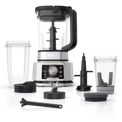 Ninja Foodi SS351 Power Blender & Processor System with Smoothie Bowl Maker and Nutrient Extractor + 4in1 Blender 1400WP