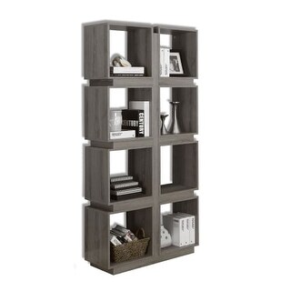 Monarch Specialties I 7078 71 Inch Tall Shelving Unit with Modular Square Shelve