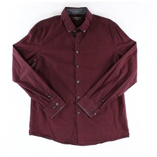 Kenneth Cole Reaction NEW Red Mens Size Large L Button Down Shirt