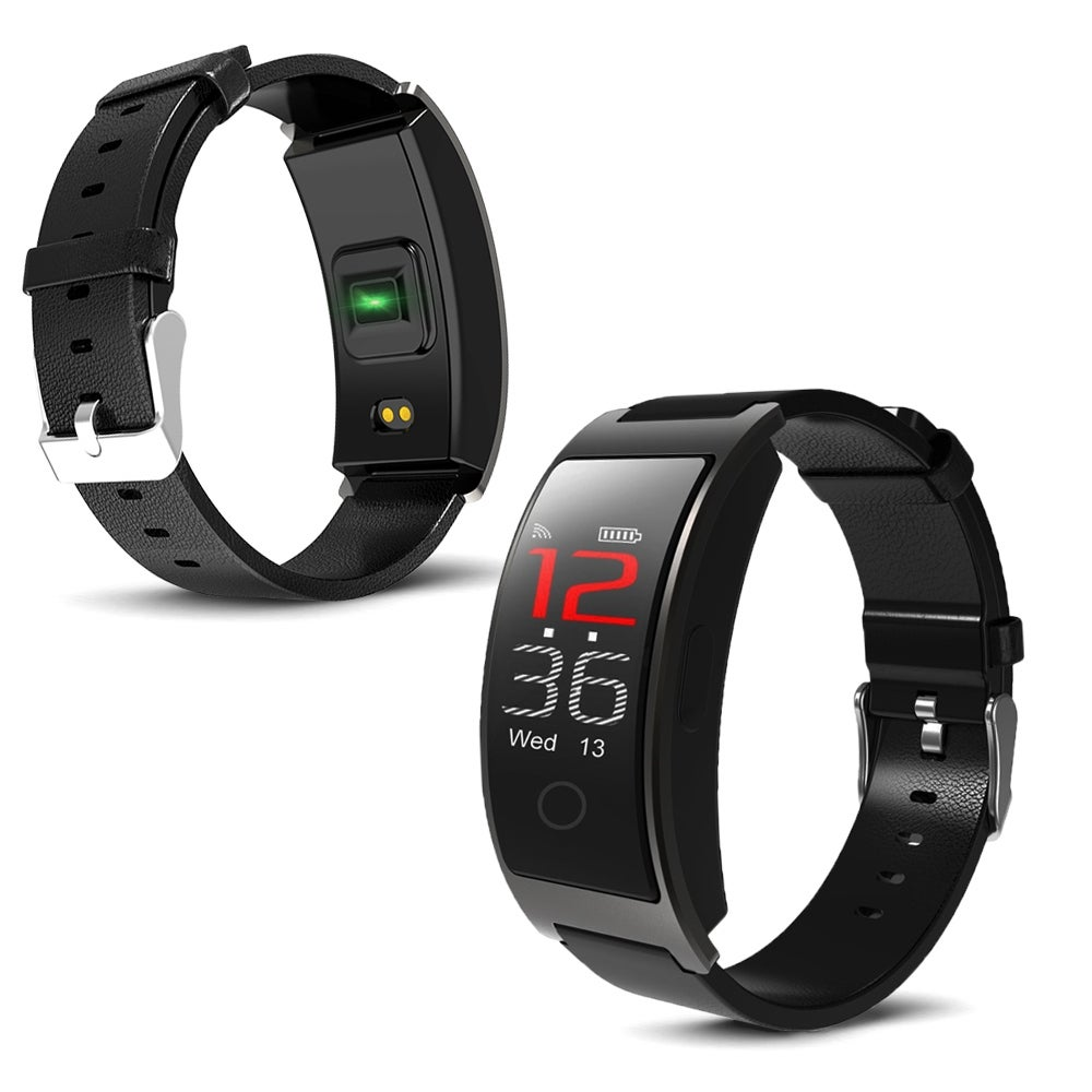 Indigi Bluetooth Fitness Tracking Smart Band (Heart Rate Monitor + Pedometer + Blood Pressure + SMS/Call Alerts (Fitness Band)