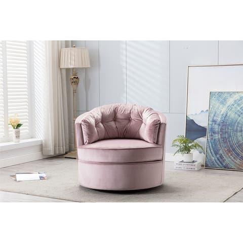 Modern Akili swivel accent chair barrel chair for home living room / Modern leisure chair