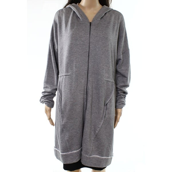 d5803d75218 Shop H by Bordeaux NEW Gray Womens Size Large L Hooded Full-Zip Sweater -  Free Shipping On Orders Over  45 - Overstock.com - 21867963