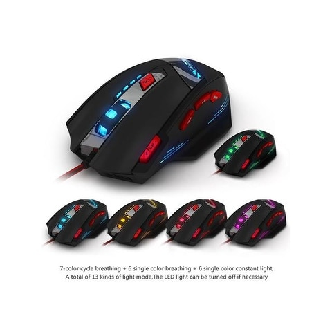 ZQY 2.4G USB Wireless Optical Gaming Mouse 2400DPI Nano Receiver for Windows 98 Win8 2000 6 Buttons XP//Vista//Win 7 10//Vista Mac OS or Latest Me