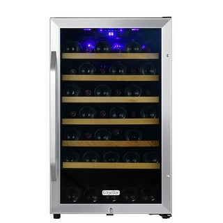 "EdgeStar CWF440SZ 20"" Wide 44 Bottle Capacity Free Standing Wine Cooler with Reversible Door and LED Lighting"