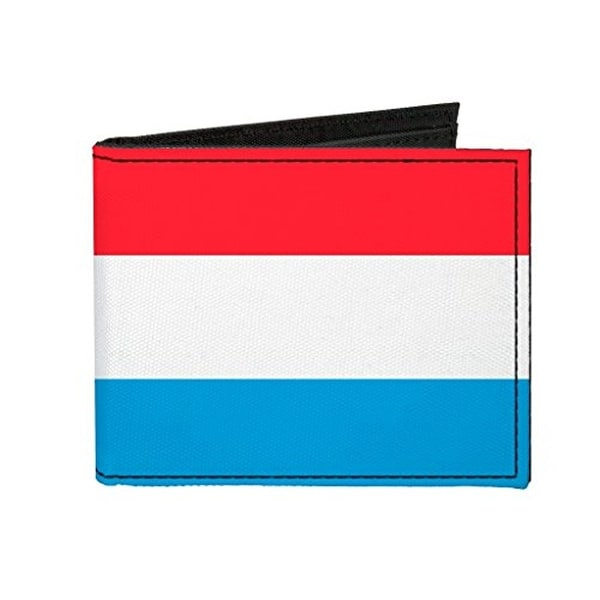 Buckle-Down Canvas Bi-fold Wallet - Luxembourg Flag Accessory