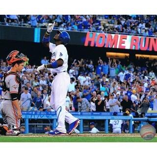 Yasiel Puig Autographed Los Angeles Dodgers Signed Baseball 8x10 Photo