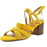 Coach Womens Terri Leather Open Toe Casual Strappy Sandals