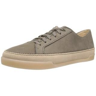 CLARKS Women's Hidi Holly Sneaker - khaki nubuck - 9.5
