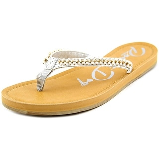 Rocket Dog Portia You Fancy Women Open Toe Synthetic Silver Flip Flop Sandal