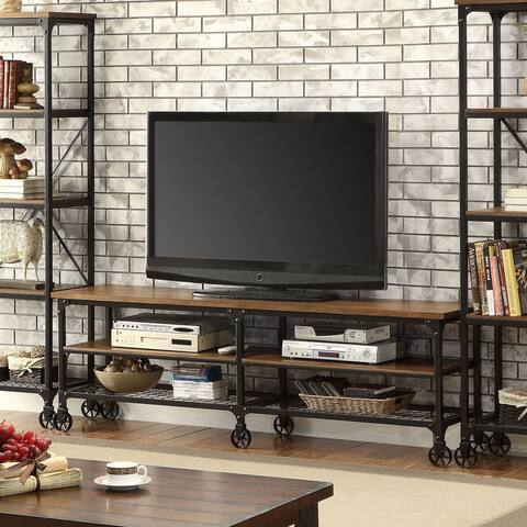 Furniture of America Daimon II Industrial-Medium Oak TV Stand