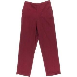 Alfred Dunner Womens Pull On Straight Leg Trouser Pants