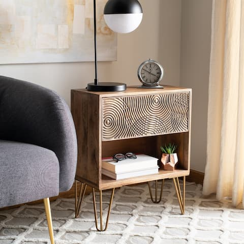Safavieh Solene 1 Drawer Textured Nightstand