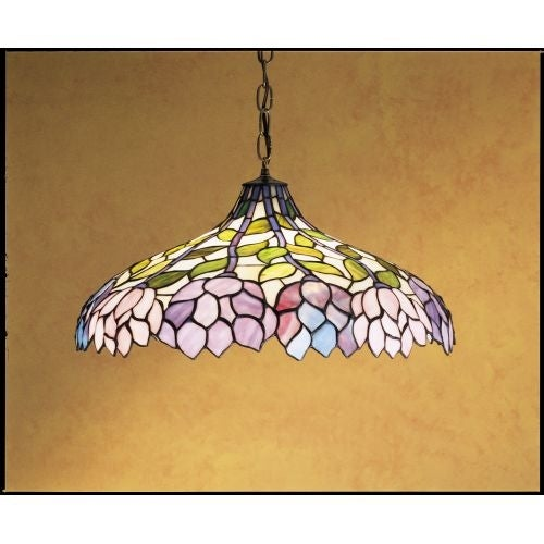 Meyda Tiffany 30449 Stained Glass / Tiffany Down Lighting Pendant from the Classic Wisteria Collection