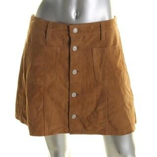 Denim & Supply Ralph Lauren Womens A-Line Skirt Goat Suede Mini - 30