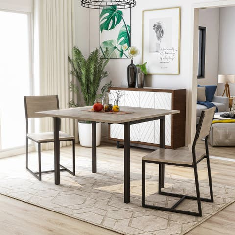 Copper Grove Melnik 3-piece Two-tone Dining Table Set