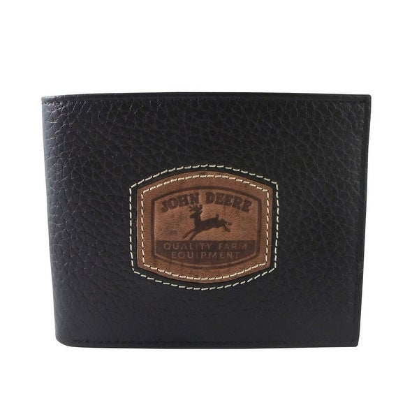 John Deere Western Wallet Mens Pebble Grain Leather Pass Case - One size