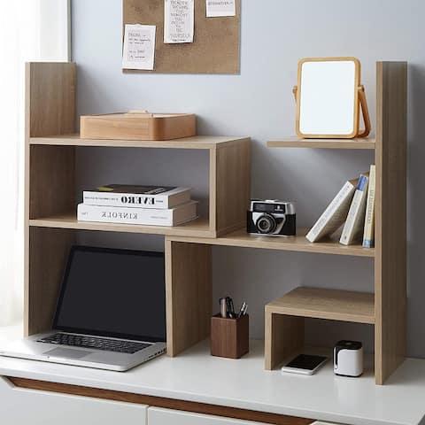 Yak About It Compact Adjustable Dorm Desk Bookshelf - Sonoma