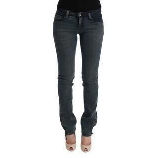 Dolce & Gabbana Gray Cotton Stretch Denim Jeans - w26