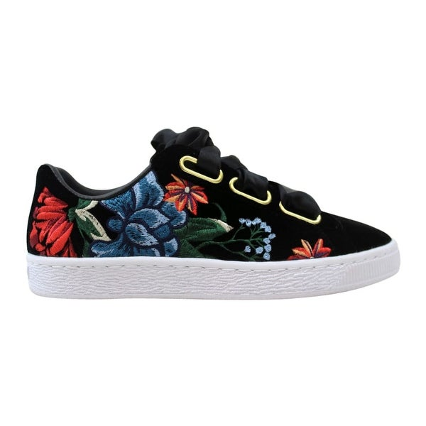 more photos e6293 639e2 Shop Puma Basket Heart Hyper Embroidered Puma Black Women's ...