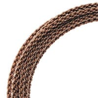 Artistic Wire, Braided Craft Wire 16 Gauge Thick, 7.5 Foot Coil, Antiqued Brass