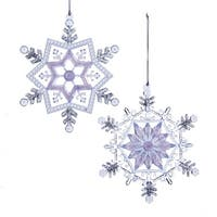 "5.25"" Ice Palace Frosted Kingdom Glittered Snowflake Christmas Ornament - CLEAR"