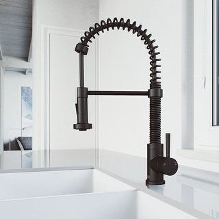 Link to VIGO Edison Matte Black Pull-Down Spray Kitchen Faucet Similar Items in Faucets