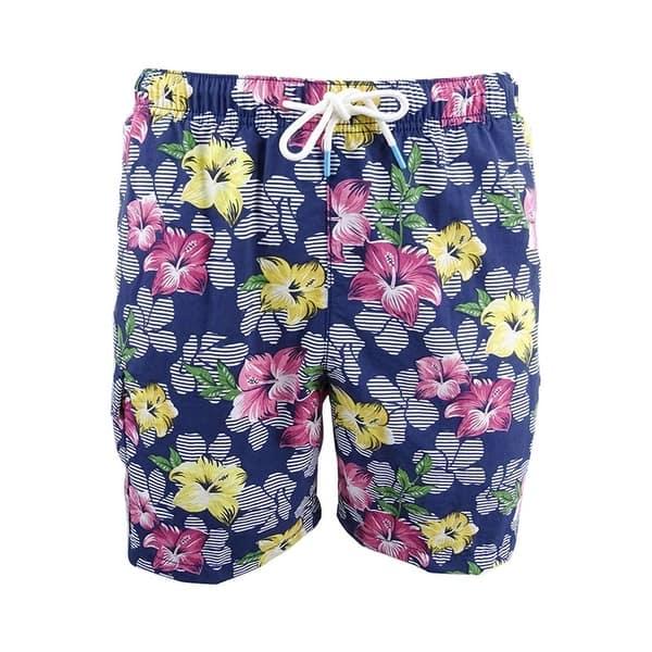 8d22228aad Shop Tommy Bahama Men's High Line Floral-Print Swim Trunks - On Sale ...
