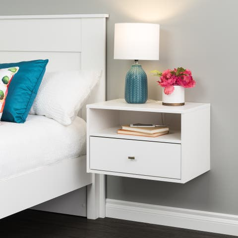 Prepac Floating Nightstand