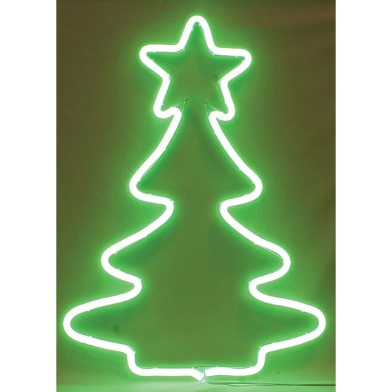 sienna nt404711 neon christmas decoration tree sculpture green metal