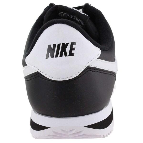Shop Nike Mens Cortez Basic Leather BlackWhiteMetallic
