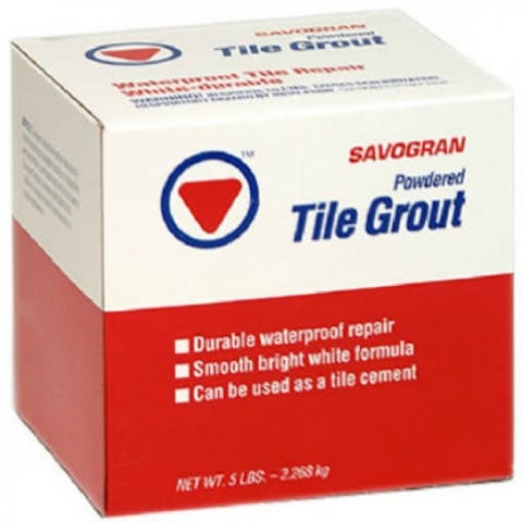 Savogran 12842 Waterproof Powdered Tile Grout, 5 Lb, White