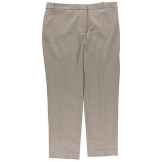 Calvin Klein Womens Petites Highline Khaki Pants Woven Stretch