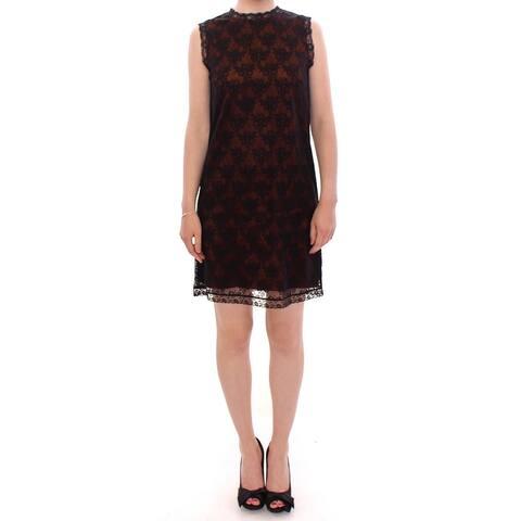 Dolce & Gabbana Orange floral lace shift Women's dress