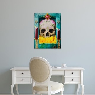 Easy Art Prints Robert Valadez's 'Calavera' Premium Canvas Art