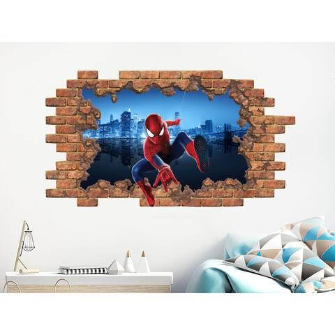 Spiderman Wall Decal Marvel Comics Vinyl Stickers Boys Decor
