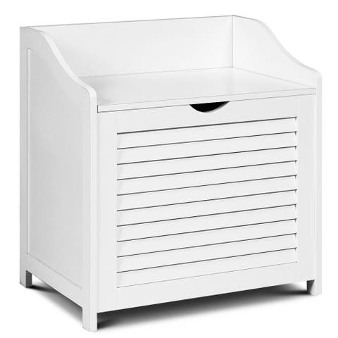 Laundry Hamper Cabinet Laundry Sorter Chest with Seat